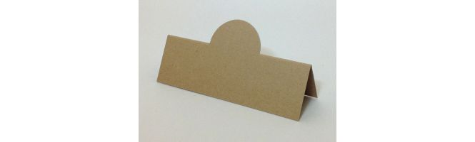 Cairn Natural Kraft Recycled 350gsm Pop-Up Place Cards