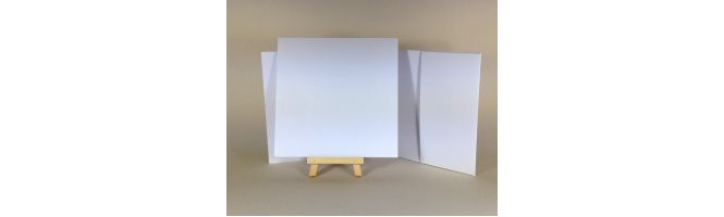 100% Recycled White 300gsm 148x148mm POCKETFOLDS