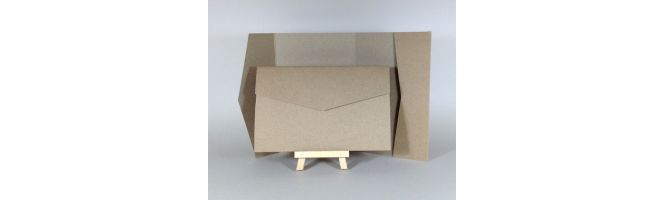 Cairn Natural Kraft Recycled 350gsm 170x110mm POCKETFOLDS