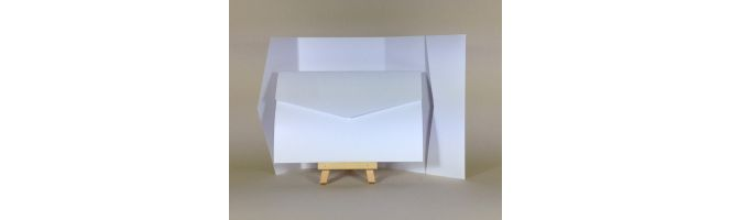 100% Recycled White 300gsm 170x110mm POCKETFOLDS