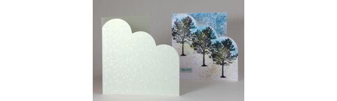 Comet & Precious Pearl Cloud Corner Card Blanks