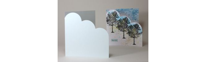 Irridescent Conqueror & Curious Cloud Corner Card Blanks
