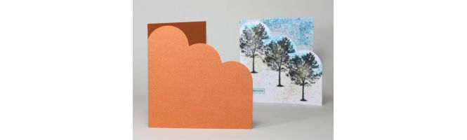 Curious & Stardream Metals Cloud Corner Cards