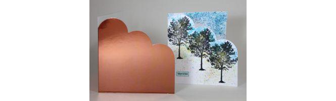 Mirror Pop-Up Cloud Corner Card Blanks