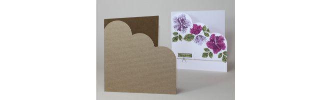 Rib-Tone Kraft Cloud Corner Card Blanks