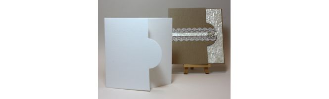 Colorplan Fine Linen 270gsm Half Moon Card Blanks