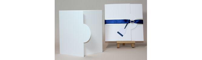 Arcoprint Milk 300gsm White Half Moon Card Blanks