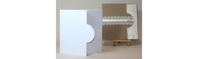 100% Recycled White 300gsm Half Moon Card Blanks
