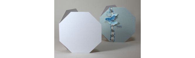Accent Antique, Fresco and Tintoretto Octagon Card Blanks