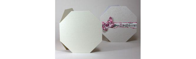 Comet & Precious Pearl Octagon Card Blanks