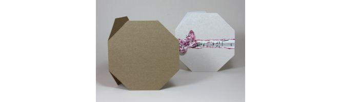 Rib-Tone Kraft Octagon Card Blanks