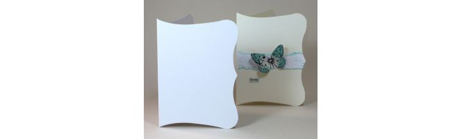 Quality White Arco 300gsm Scroll Card Blanks