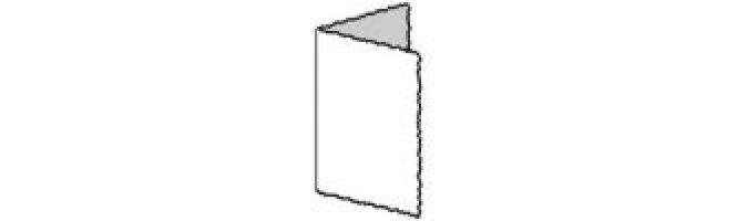 100% Recycled White 300gsm Deckle Single Creased Card