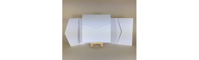 Olin Smooth 300gsm Absolute White 150x150mm POCKETFOLDS