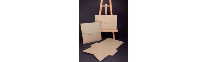 Cairn Natural Kraft Recycled 350gsm Pocket Card