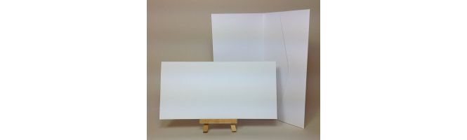 Old Mill Bianco 300gsm White 210x105mm POCKETFOLDS
